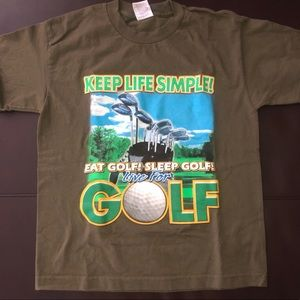 """early 2000s graphic tee """"keep life simple golf""""🏌️"""